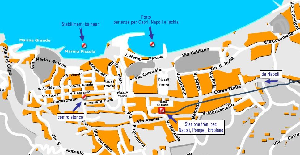 Cartina Di Sorrento Centro Storico Di Sorrento Come